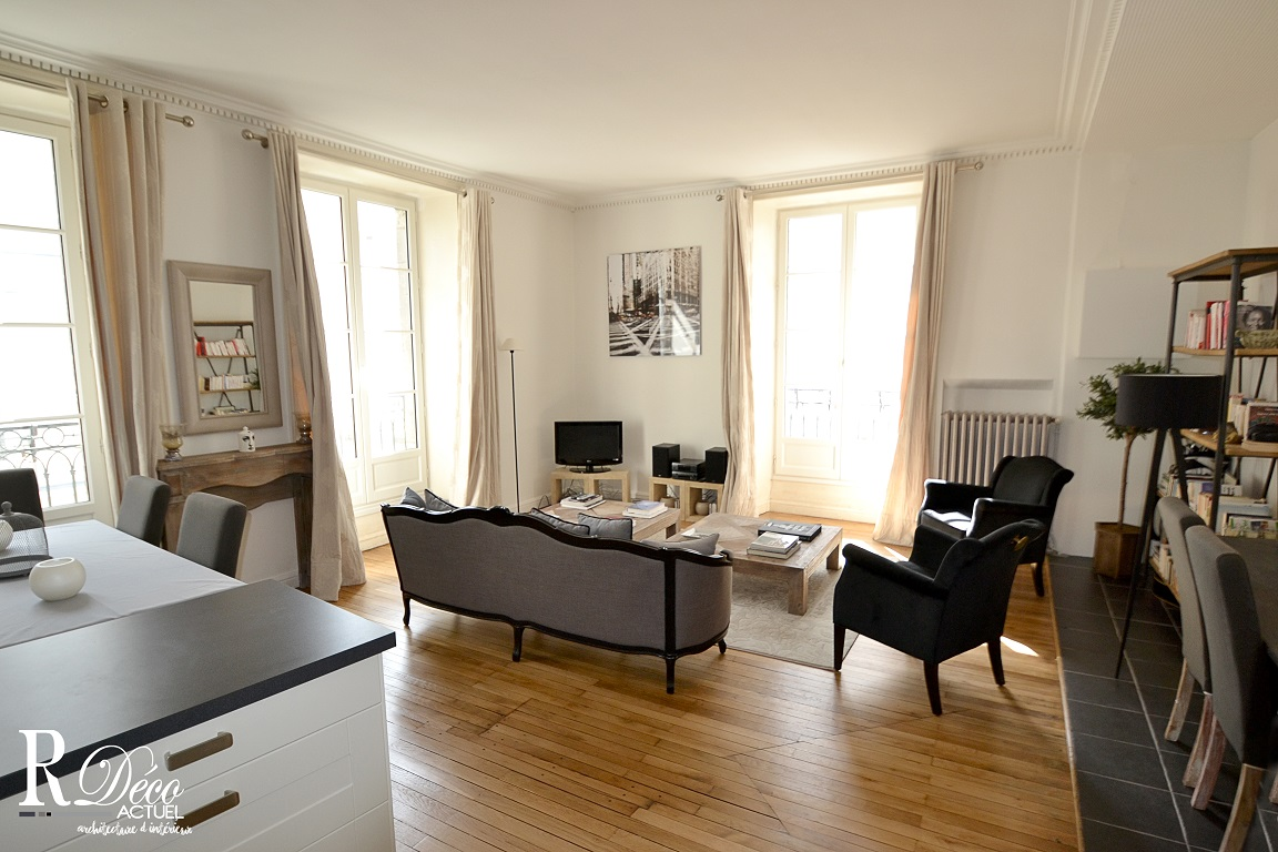 appartement haussmannien nantes relooking d co actuel. Black Bedroom Furniture Sets. Home Design Ideas